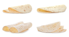 Set Of Delicious Tortillas On ...