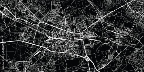 Foto  Urban vector city map of Katowice, Poland