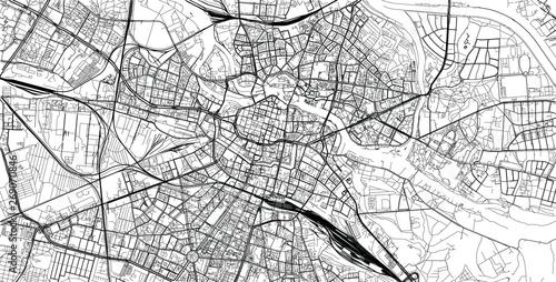 Fotografia Urban vector city map of Wroclaw, Poland