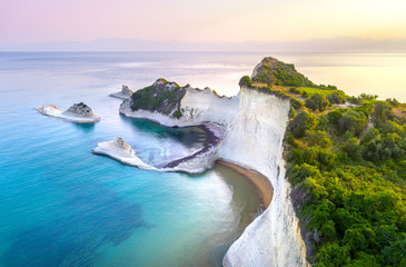 Obraz na SzkleBeautiful view of Cape Drastis in Corfu in Greece