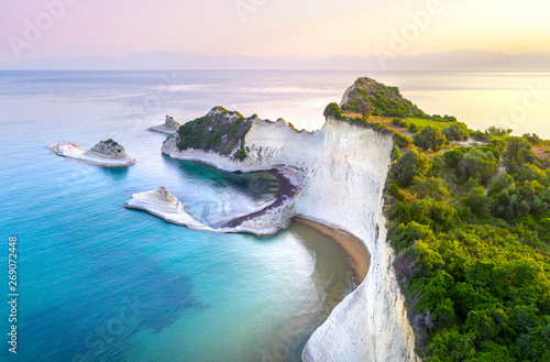 Poster Island Beautiful view of Cape Drastis in Corfu in Greece