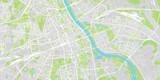 Urban vector city map of Warsaw, Poland