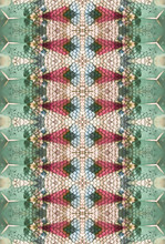Textured Pattern Made With Crystals And Wire Inside Kaleidoscope