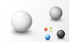 Set Of Colored Spheres
