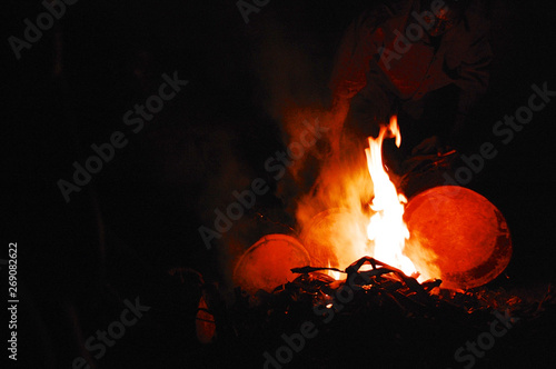 Fire Drums in Uganda - Buy this stock photo and explore