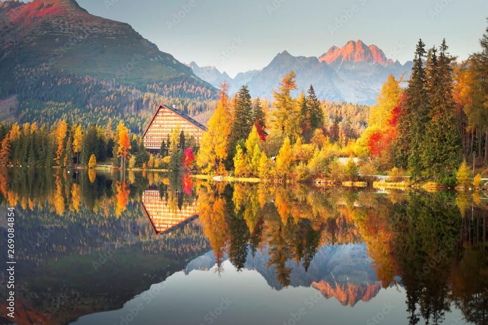 Fototapety, obrazy: Strbske Pleso in the Tatras