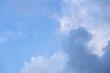 canvas print picture - wolken am blauen Himmel Regen meteorologie
