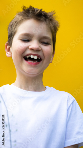 child laughing into the camera Wallpaper Mural
