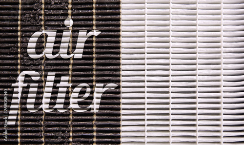 High efficiency air filter for HVAC system. new and used filter