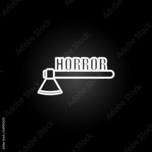 Fotomural logo horror games neon icon