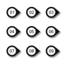 Set Of Nine Numbers Form - From 0 To 9 Illustration