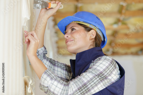Poster Inspiration painterly woman removing wall paper