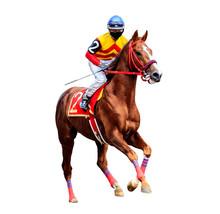 Horse Racing Jockey Isolated O...