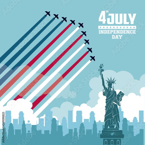 USA independence day card Fototapet