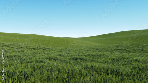 Canvas Prints Pool sky and grass background 3D Rendering