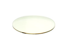 Image Of Resin Glass For Spectacles On White Background. Glass Lenses.