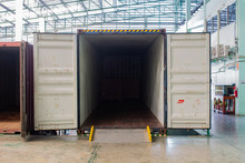 The Container Inside Warehouse...
