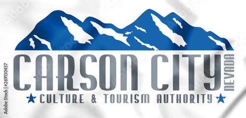 Photo  3D Emblem of Carson City (Nevada), USA. 3D Illustration.