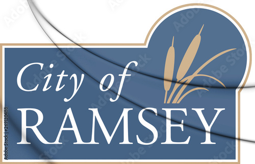 Photo  3D Emblem of Ramsey (Minnesota), USA. 3D Illustration.