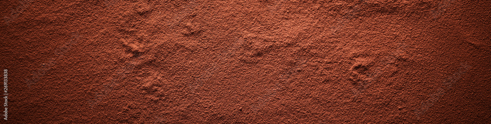 Fototapety, obrazy: Cocoa powder surface banner