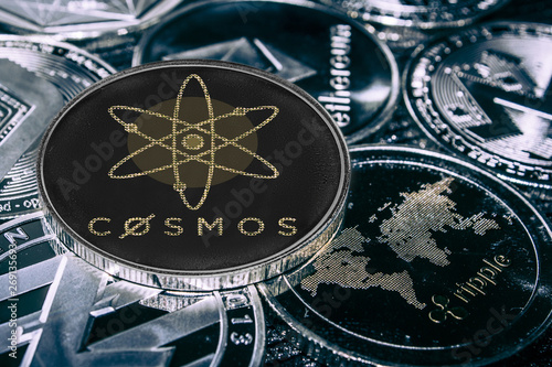 coin cryptocurrency atom against the main alitcoins. cosmos