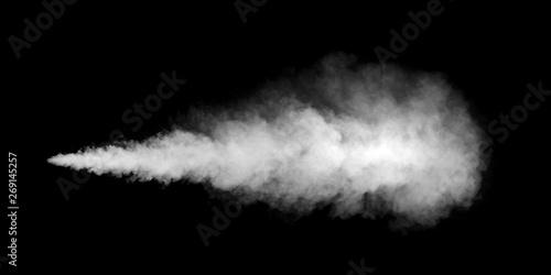 Wall Murals Smoke white smoke texture on black background
