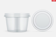 Set Of Clear Plastic Container For Food