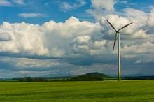Single Wind Turbine In Rural A...