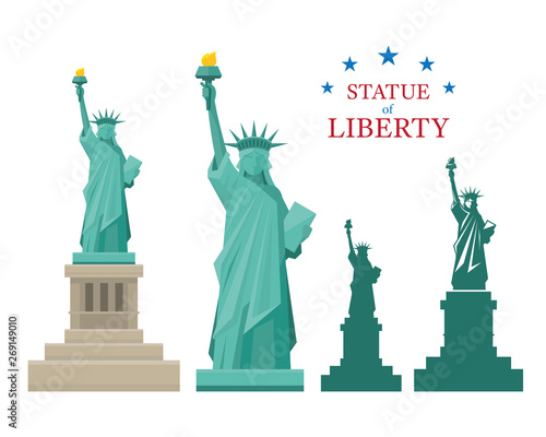 Photo Statue of Liberty, New York, Landmarks, Travel and Tourist Attraction