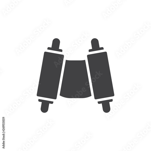 Torah scroll vector icon Wallpaper Mural