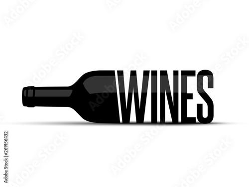 Fotografie, Tablou Wine Bottle Logo