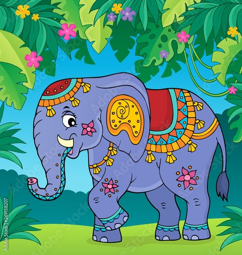 Wall Murals For Kids Indian elephant topic image 2