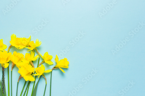 Leinwand Poster Spring floral background