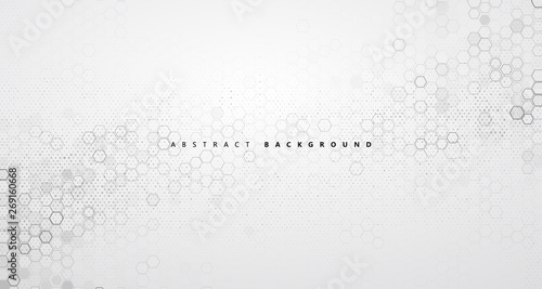 Fotografía  The abstract background of molecular structure and graphic design of technology sense