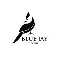 Blue Jay Bird Logo Icon Design...