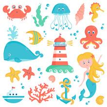 Sea And Nautical Illustration ...