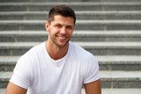 Perfect teeth. Man model posing - 269163614