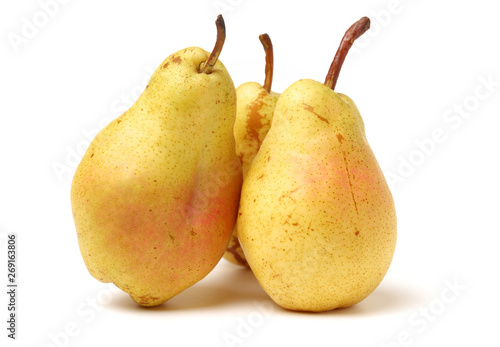pear isolated on white background Wallpaper Mural