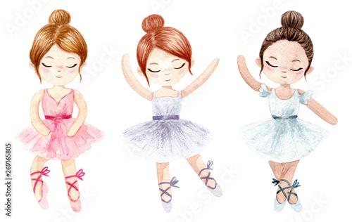 Watercolor ballerina Fototapete