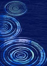 夏の和紙風背景 水紋...
