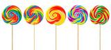 Fototapeta Tęcza - Lollipops isolated on white background