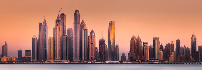 Dubai Marina bay view from ...