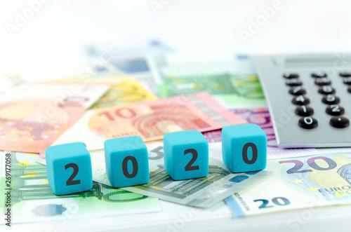 2020, Geld, Business, Steuer, Verbraucher, Gesetze, Bank, neu, Staat, Recht, Sta Wallpaper Mural