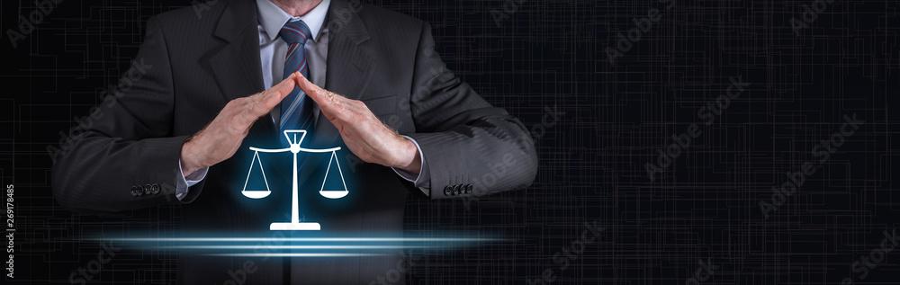 Fototapeta Concept of legal protection