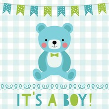 Baby Boy Arrival Greeting Card