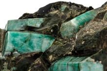 Macro Emerald Stone Mineral In...