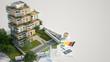 Leinwandbild Motiv Sustainable building mock up