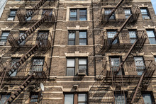 Fire Escape Ladder In New York City Building