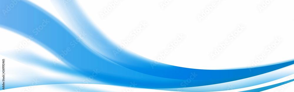 Fototapeta  Abstract shiny blue wavy banner