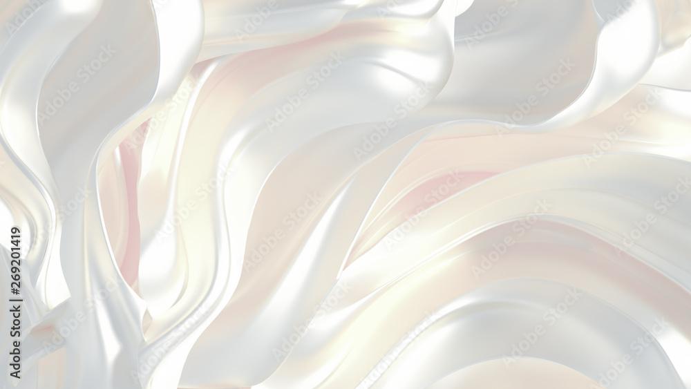 Fototapeta Luxury elegant background abstraction fabric. 3d illustration, 3d rendering.